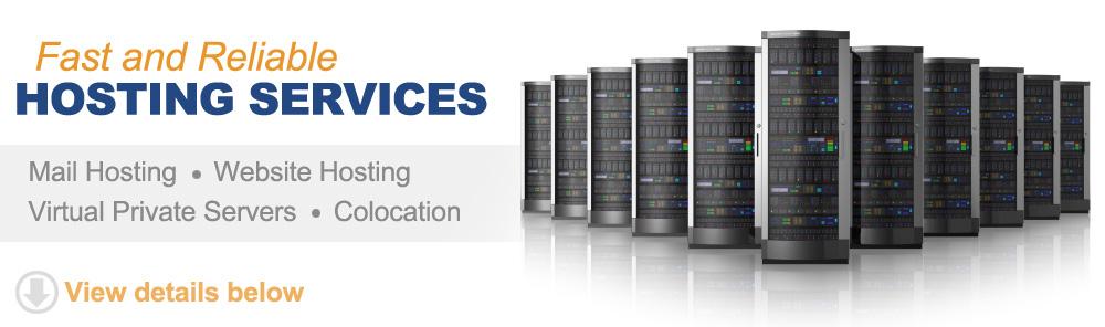 Web hosting - Virtual Private Servers - Email Hosting